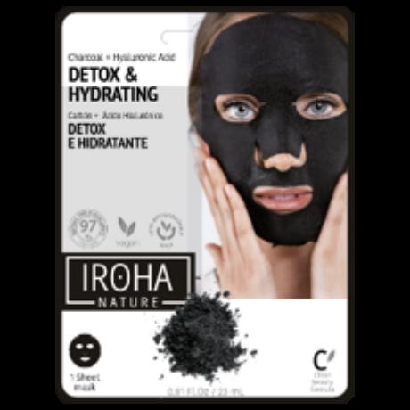 Iroha Detox & Hydrating Méregtelenítő fátyolmaszk