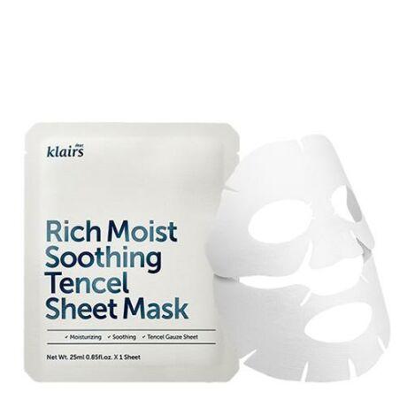 Dear, Klairs Rich Moist Soothing Tencel Sheet Mask