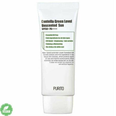 Purito Centella Green Level Unscented Sun SPF50+ PA++++ Illatmentes Fényvédő