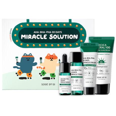 Some By Mi AHA BHA PHA 30 Days Miracle Solution 4 lépéses bőrápoló készlet